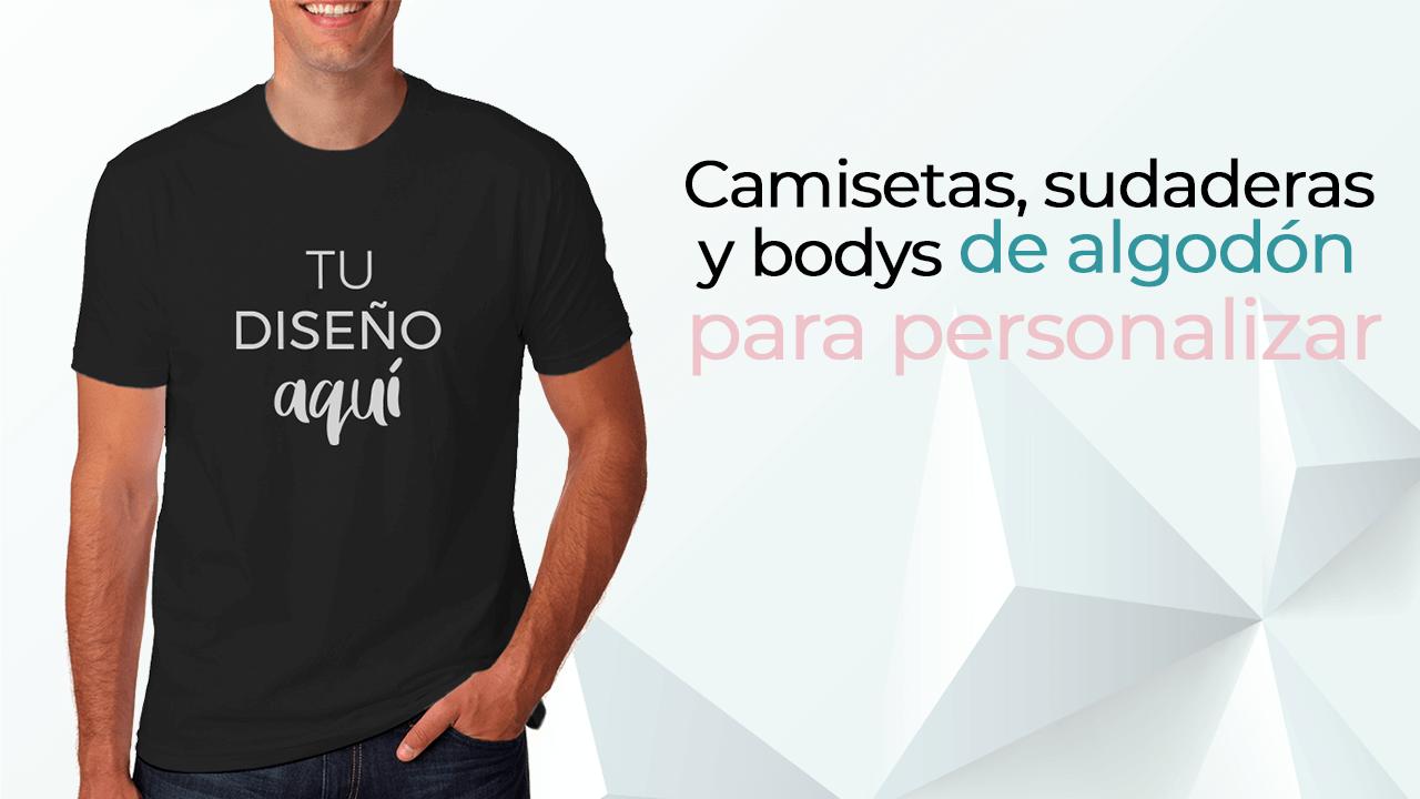 ¡Personaliza camisetas, sudaderas y bodys de bebé de algodón!