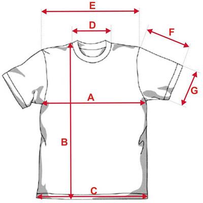Esquema medidas camiseta Unisex